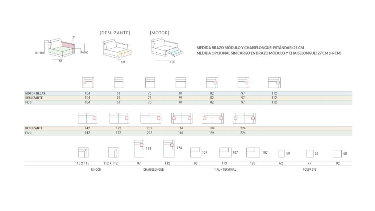 medidas y configuración sofa dino pedro ortiz