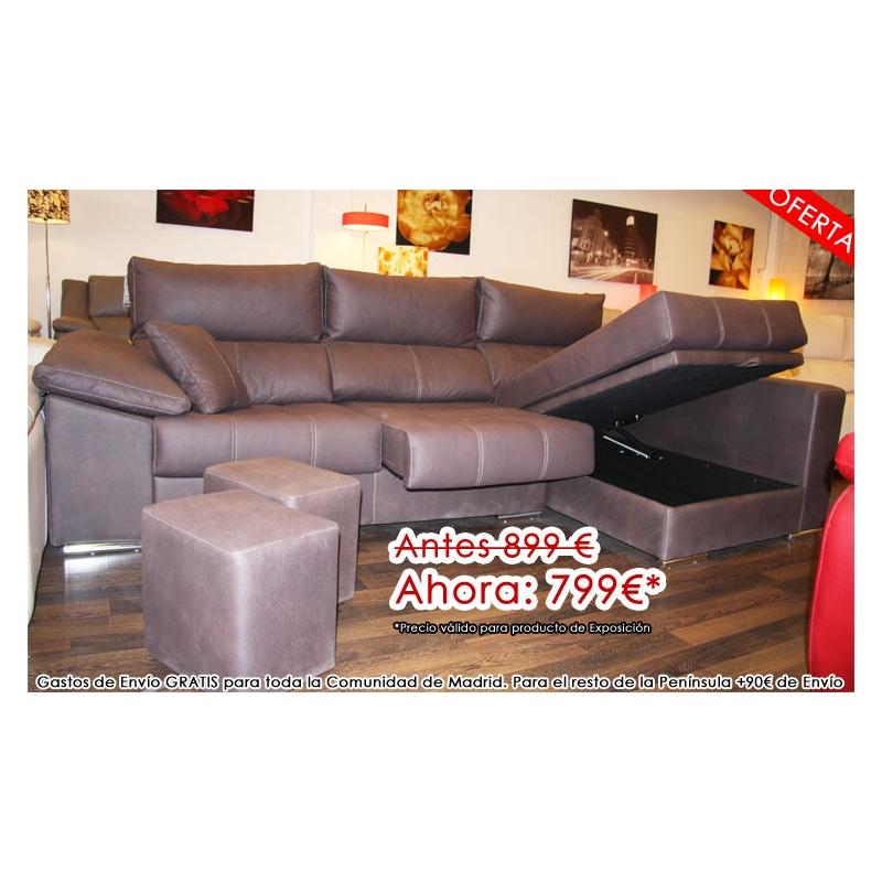 oferta de sofa con chaiselonge por liquidaci n en las rozas