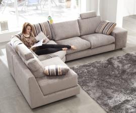 Sofá de Tela Modelo Calisto de Fama