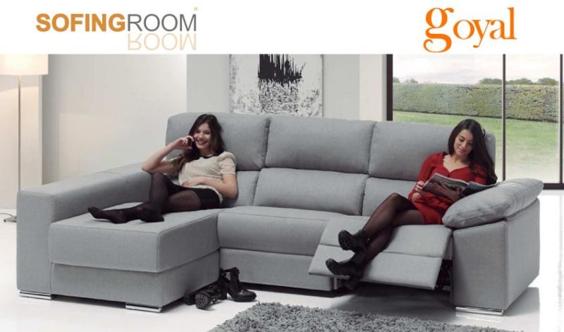 Sofa monty con chaiselonge arc n de sofingroom - Sofas relax madrid ...