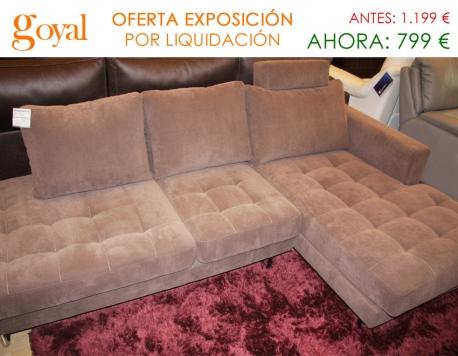 Oferta liquidaci n sof de 3 plazas con chaiselonge fijo for Liquidacion sofas cama