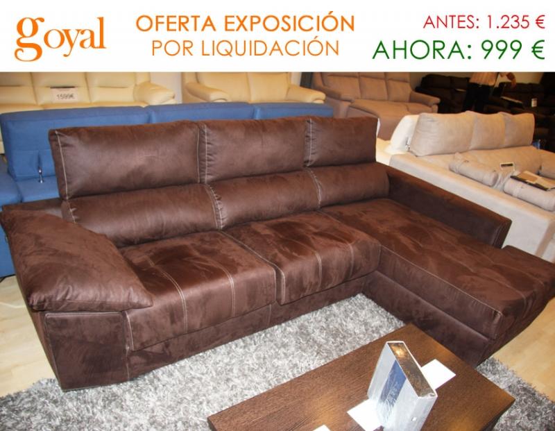 Oferta liquidaci n sof de 3 plazas con chaiselonge y for Liquidacion sofas