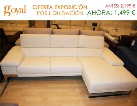 Liquidación: Sofá de 3 plazas + Chaiselonge