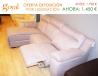 Liquidación: Sofá de 3 plazas con asiento relax, fijo + Chaiselonge