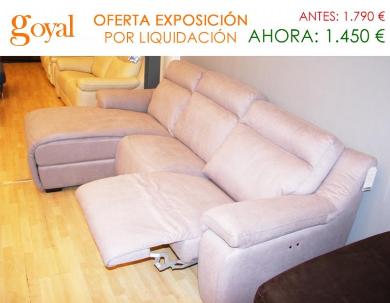 Liquidaci n sof de 3 plazas con asiento relax fijo for Liquidacion sofas