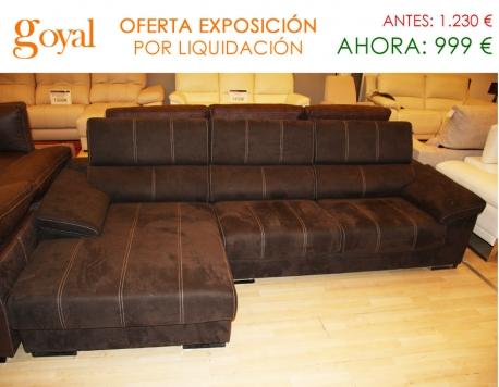 Liquidaci n sof de 3 plazas con deslizantes chaiselonge for Liquidacion sofas online