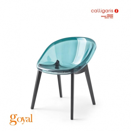 Silla BLOOM pata Madera Calligaris