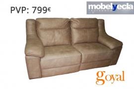 Sofa de 3 plazas con chaiselongue modelo savoy piel confort - Mobel yecla ...