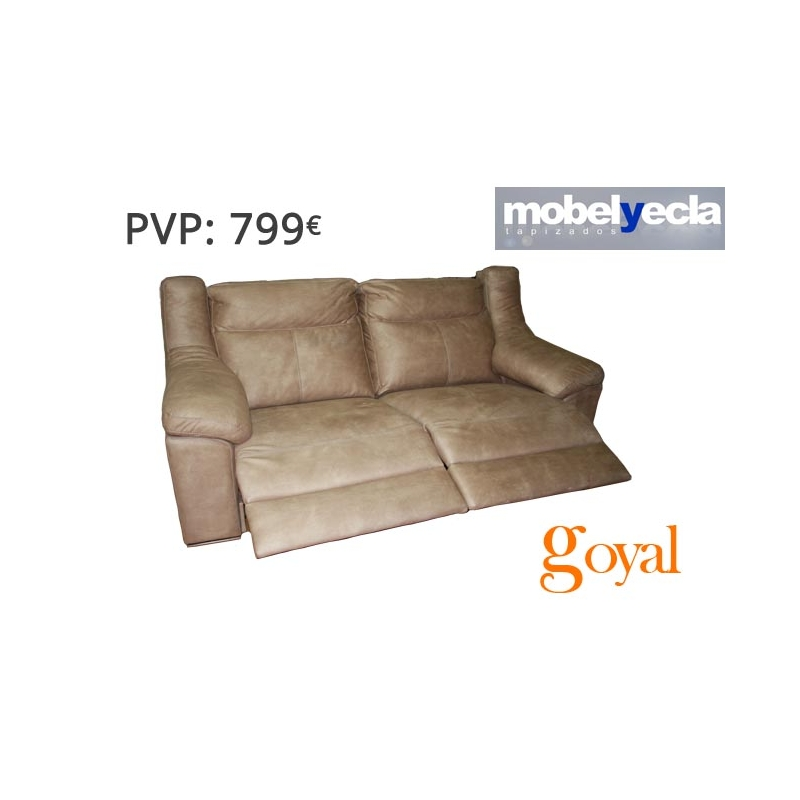 Sof 3 plazas con 2 relax electricos modelo dario mobel yecla - Mobel yecla ...