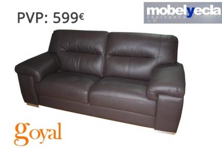 Sof 3 plazas con asientos fijos modelo aroa mobel yecla - Sofas de yecla ...