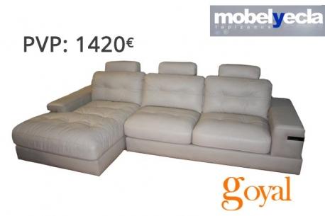 Sofá de 3 Plazas + Chaislongue modelo CUBE Mobel Yecla