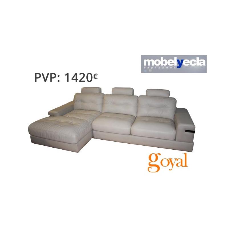 Sof 3 plazas con chaiselongue modelo cube mobel yecla - Mobel yecla ...