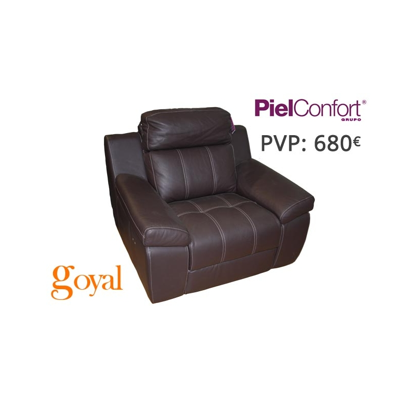 sillon relax electrico modelo saray piel confort