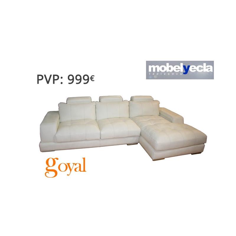Sof 3 plazas con chaiselongue modelo liza mobel yecla - Sofas de yecla ...