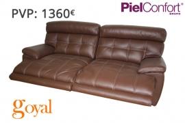 Sofa de 3 Plazas con 2 relax eléctrico modelo BUGATTI Piel Confort