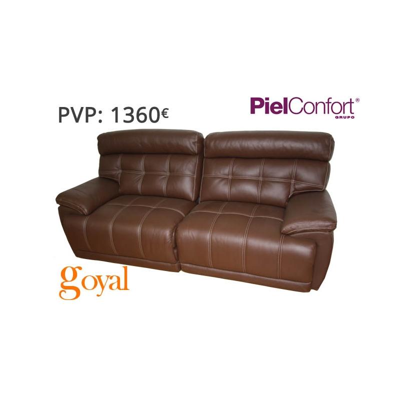 Sofa de 3 plazas con 2 relax el ctrico modelo bugatti piel for Sillones piel confort