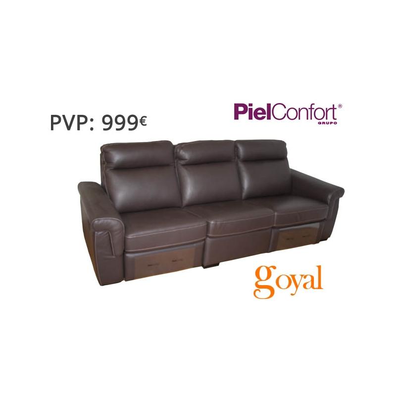 sofa de 3 plazas con 2 relax el ctrico modelo rayo piel