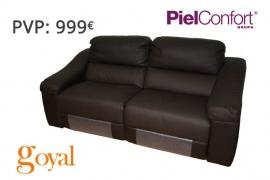 Sofa de 3 Plazas con 2 relax eléctrico modelo TWIN Piel Confort