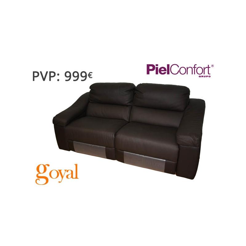 Sofa de 3 plazas con 2 relax el ctrico modelo twin piel for Sofas piel confort precios