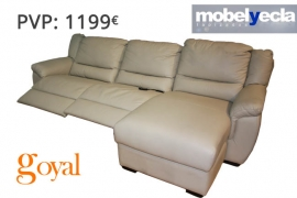 Sofá 3 Plazas + Chais y Relax Elect. modelo DEISY Mobel Yecla