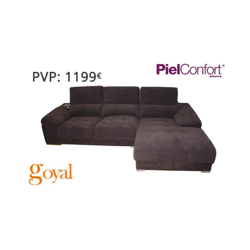 Sofa de 3 plazas con chaiselongue y iphone modelo rayo for Sillones piel confort