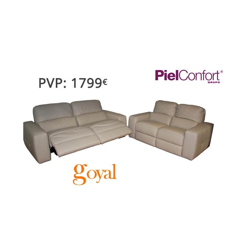 Sofa de 3 plazas 2 plazas modelo aston piel confort for Sofas piel confort precios