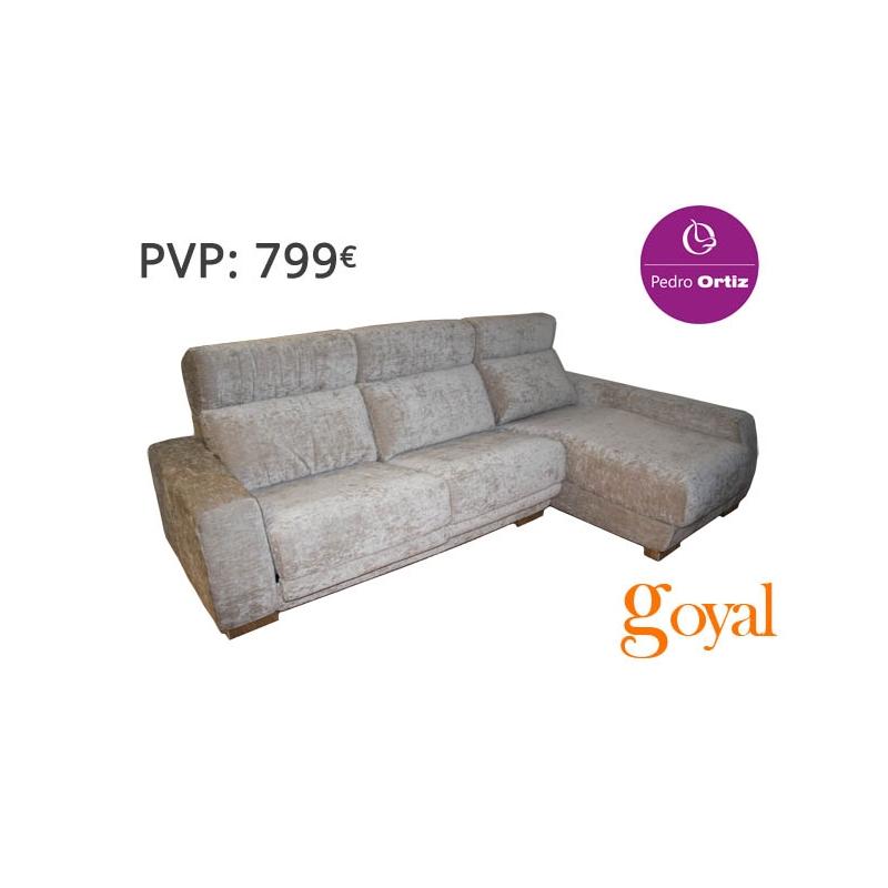 Sofa de 3 plazas con chaiselongue modelo marga pedro ortiz - Pedro ortiz precios ...