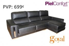 Sofá 3 Plazas + Chaiselonge modelo SAVOY Piel Confort
