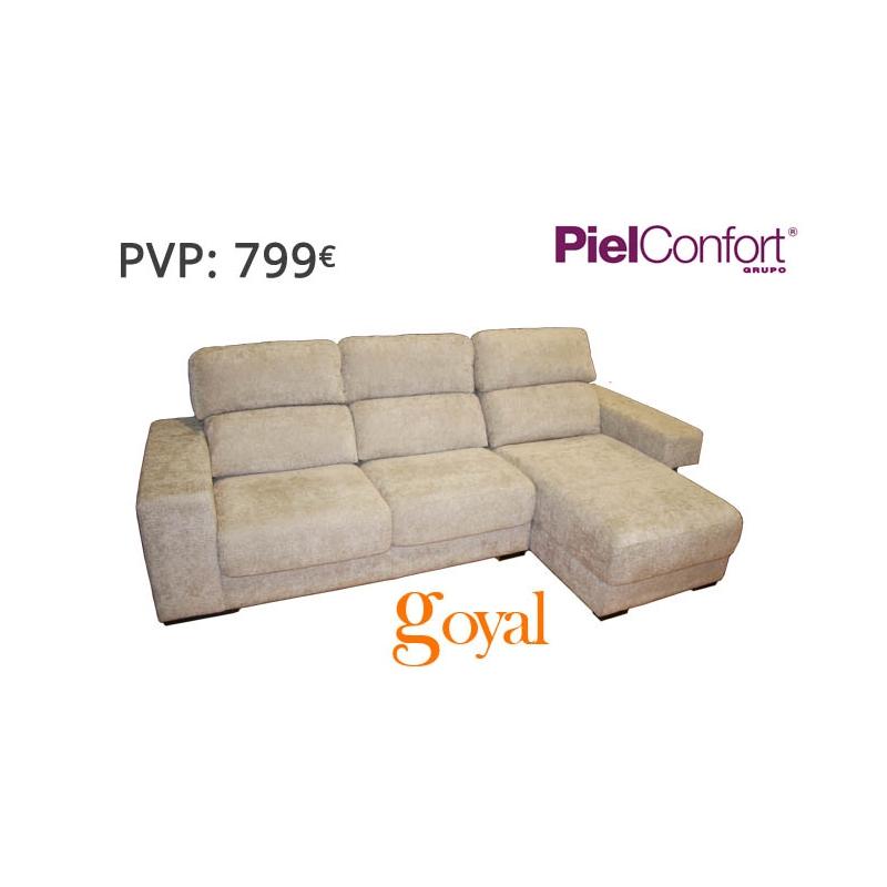 Sofa de 3 plazas con chaiselongue modelo harry piel confort for Sofas rinconeras de piel ofertas