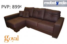 Sofá 3 Plazas + Chaiselongue modelo PIPOL Mobel Yecla
