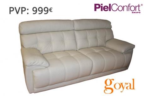 Sofá 3 Plazas fijo modelo BUGATTI Piel Confort