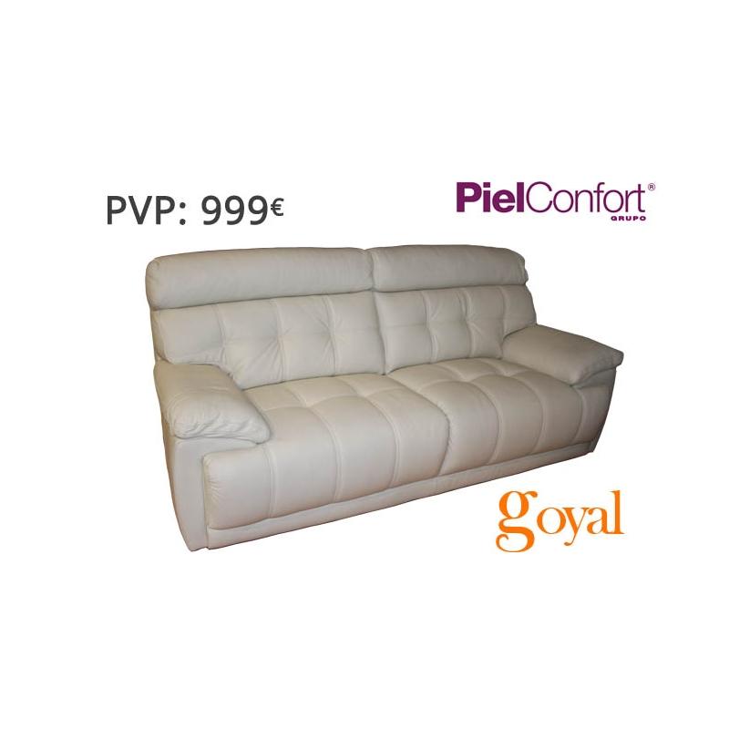 Sofa de 3 plazas modelo bugatti piel confort for Sillones piel confort