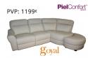 Sofá 3 Plazas + Chaiselonge modelo MOON Piel Confort