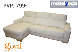 Sofá 3 Plazas + Chaiselongue modelo LAREDO Mobel Yecla