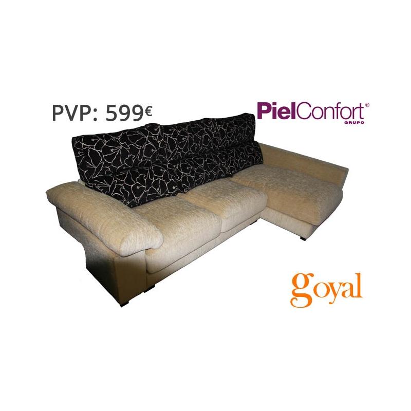 Sof 3 pl chaislongue modelo troya piel confort for Sillones piel confort