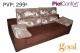 Sofá 3 Plazas  modelo SAMBA Piel Confort