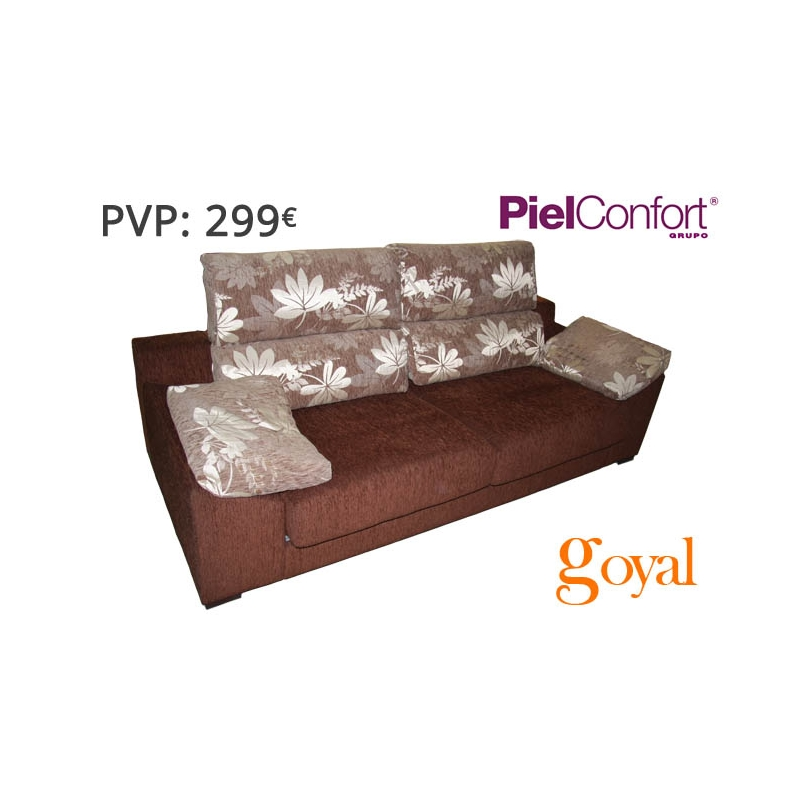 Sof 3 plazas modelo samba piel confort for Sillones piel confort