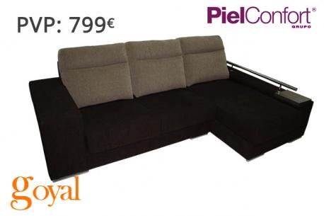 Sof 3 plazas chaiselonge modelo tem piel confort for Sillones piel confort