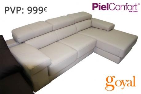 Sofá 3 Plazas modelo CLINT Piel Confort