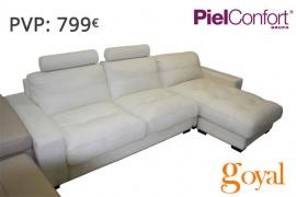 Sofá 3 Plazas modelo IVANA Piel Confort