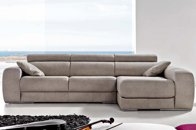 Sofa carmen de pedro ortiz con chaiselonge en tela o piel - Sofas de piel ...
