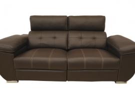 Sofá en Piel 3 plazas y Relax con Motor
