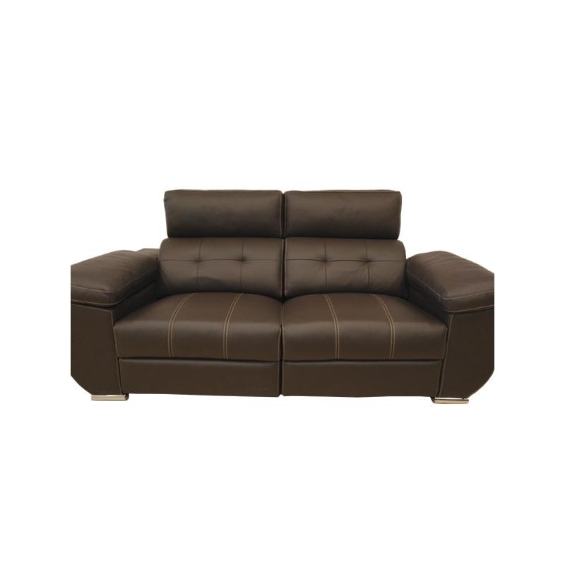 Sof en piel 3 plazas y relax con motor for Sofas y sillones de piel