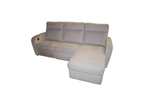 Sofá 3 Plazas + Chaiselonge modelo TRUENO Piel Confort