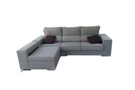 Sofá 3 plazas + Chaiselongue Partida modelo Rosa