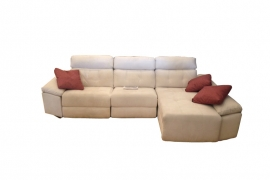 Sofá con 2 asientos motor + Chaiselonge  ALASKA
