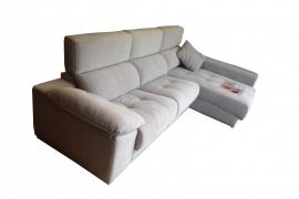 Sofá con 3 asientos deslizantes + Chaiselonge  CLARA