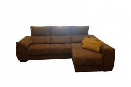 Sofá con 3 asientos deslizantes + Chaiselonge  KASAI