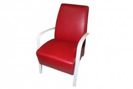 Sillón Fijo modelo VIC Tajoma Piel Roja