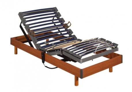 Somier articulado eléctrico Futurlam madera Pikolin
